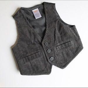 Gymboree Grey Corduroy vest
